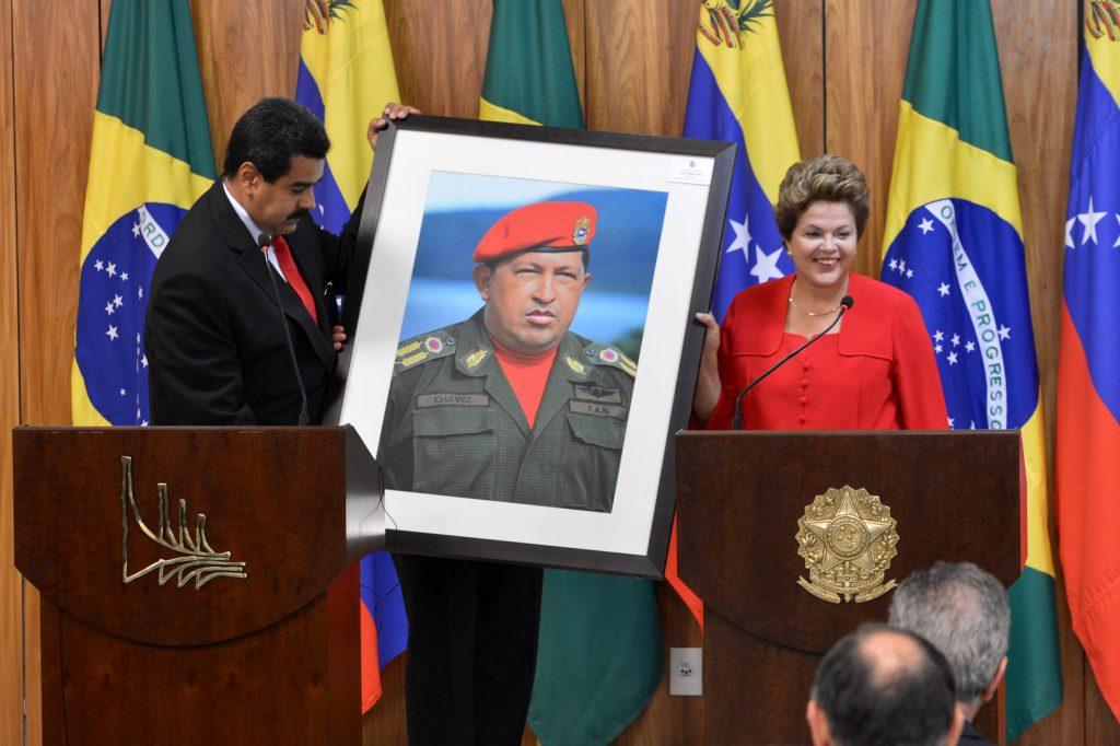 La presidenta Dilma Rousseff y el presidente de Venezuela, Nicolás Maduro