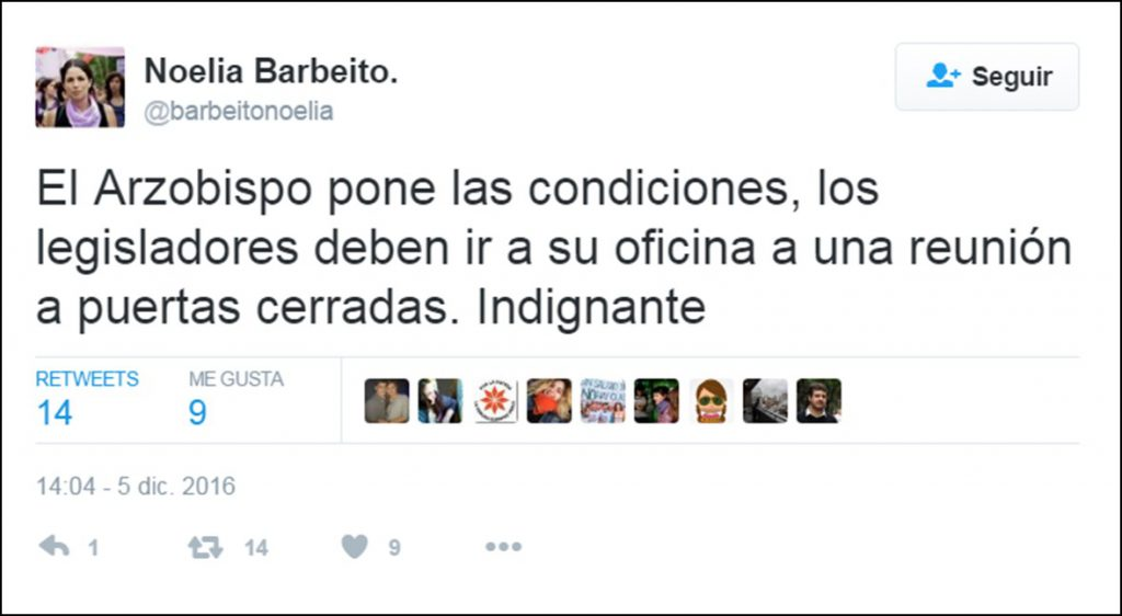Twitter de Noelia Barbeito.
